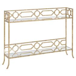 Regina Andrew Soft Regency Geometric Champagne Gold Metal Console Table