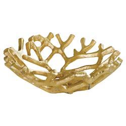 Regina Andrew Gilded Coastal Gold Coral Web Decorative Bowls - Pair