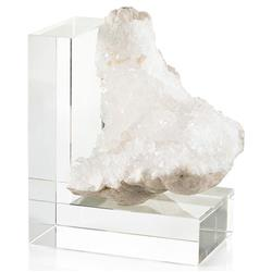 John-Richard Anastasia Modern Classic White Quartz Crystal Right Bookend