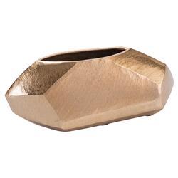 John-Richard Rosaline Modern Classic Rose Gold Geometric Vase - 4.5H