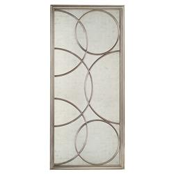 John-Richard Audrey Hollywood Regency Eglomise Silver Circles Wall Mirror