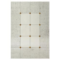 John-Richard Stefani Hollywood Silver Eglomise Gold Bevel Wall Mounted Mirror