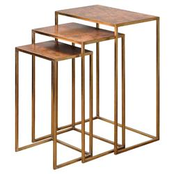 Coven Classic Oxidized Copper Nesting Tables - Set of 3