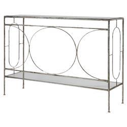 Peg Hollywood Regency Ornate Silver Iron Table