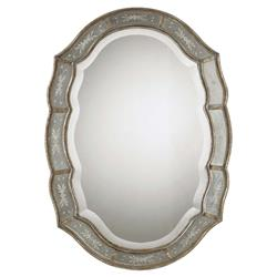 Collette French Antique Etched Gold Leaf Mirror