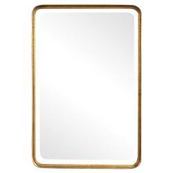 Rofel Modern Classic Gold Metal Strap Wall Mirror