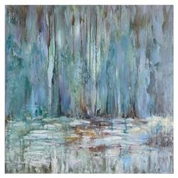 Coastal Modern Blue Abstract Pastel Painting