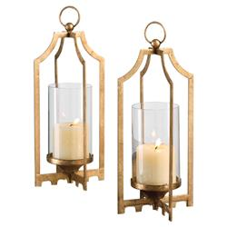 Donna Bazaar Antique Gold Candleholder - Pair