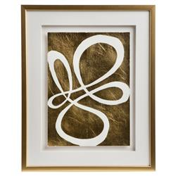 Cleo Modern Classic Framed Gold Pressed Wall Décor II