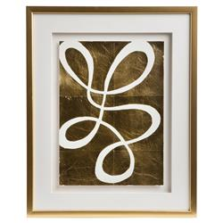 Cleo Modern Classic Framed Gold Pressed Wall Décor III