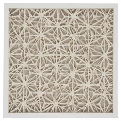 Coastal Modern Abstract Paper Framed Wall Art - II