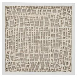 Coastal Modern Abstract Paper Framed Wall Art - III
