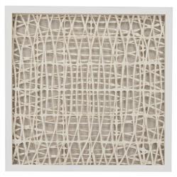 Benny Coastal Beach Abstract Paper Framed Wall Art - III