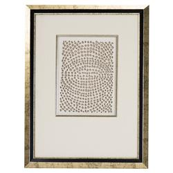 Modern Gold Abstract Paper Framed Wall Art - III
