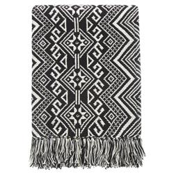 Kenton Global Bazaar Black Tribal Woven Blanket