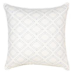 Spiva Modern Classic Dotted Grey Ivory Pillow - 18x18