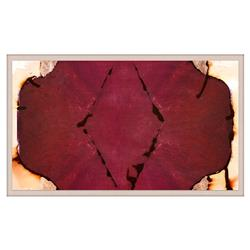 Red Burgundy Unia Inkblot Copper Painting - Acrylic Frame