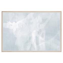 Catena Modern Abstract Blue Grey Painting - Maple Frame