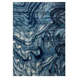 "Bruce Modern Marbled Blue Rug -3'11"" x 5'9"""