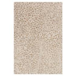 "Juno Beige Taupe Raised Pile Wool Rug - 3'6"" x 5'6"""