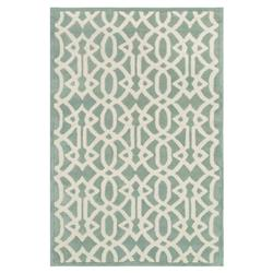 Jemi Classic Sea Green Trellis Wool Rug - 3'6x5'6