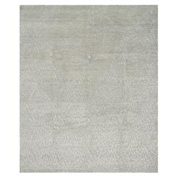Novi Regency Silk Grey Petal Wool Rug - 5'6x8'6