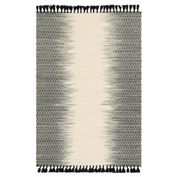 Tilly Global Black Ombre Woven Wool Rug - 3'6x5'6