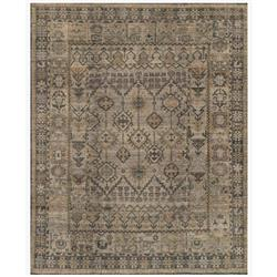Ismael Global Grey Vintage Tribal Wool Rug - 6'x9'