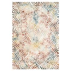 Cella Bohemian Rainbow Ivory Diamond Rug - 3'6x5'6