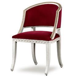 Mr. Brown Pearl Chair Regency Gilt Persimmon Red Velvet Wave Chair
