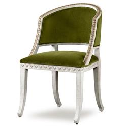 Mr. Brown Pearl Chair Regency Gilt Midori Green Velvet Wave Chair