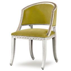 Mr. Brown Pearl Chair Regency Gilt Yellow Velvet Wave Chair