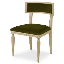 Mr. Brown Delphi Coastal Grey Ash Midori Green Velvet Side Chair