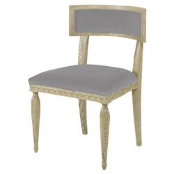 Mr. Brown Delphi Coastal Grey Velvet Side Chair