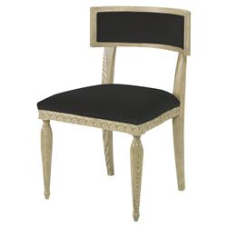 Mr. Brown Delphi Coastal Grey Ash Dark Grey Velvet Side Chair