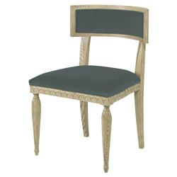 Mr. Brown Delphi Coastal Grey Ash Sage Velvet Side Chair