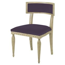 Mr. Brown Delphi Coastal Grey Ash Purple Velvet Side Chair