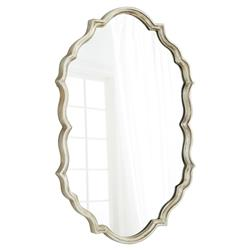 Cece Hollywood Antique Silver Wall Mirror