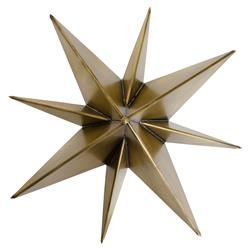 Noir Star Industrial Loft Gold Antique Brass Metal Star Sconce