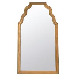 Noir Teak Modern Classic Honey Brown Reclaimed Teak Floor Mirror