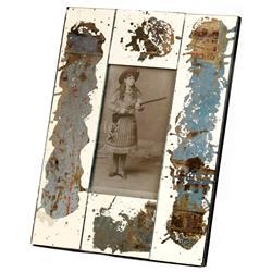 Specchio Vintage Wood Rustic Hand Painted Picture Frame- Aqua