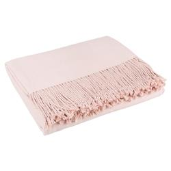 Hardy Classic Cashmere Silk Throw Blanket - Blush Pink