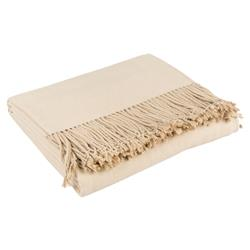 Hardy Classic Cashmere Silk Throw Blanket - Tan