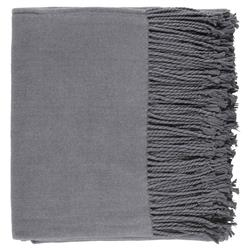 Hardy Classic Cashmere Silk Throw Blanket - Charcoal Grey
