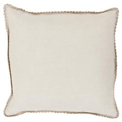 "Kinsley Modern Classic Ivory Linen Down Pillow - 18"" x 18"""