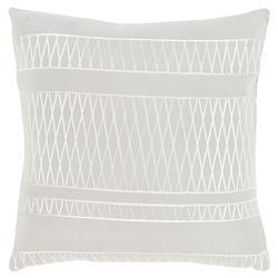 Zia Modern Diamond Grey Tonal Pillow - 18x18