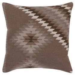 Nava Bazaar Brown Kilim Pillow - 18x18
