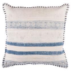 Shibi Bazaar Ivory Shibori Blue Pillow - 20x20