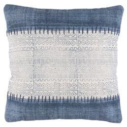 Shibi Bazaar Navy Indigo Stitch Pillow - 20x20