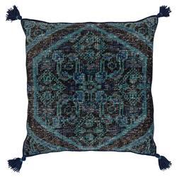 Quira Global Tassel Black Navy Floor Pillow - 30x30